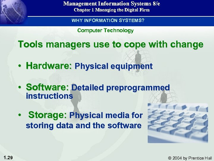 Management Information Systems 8/e Chapter 1 Managing the Digital Firm WHY INFORMATION SYSTEMS? Computer