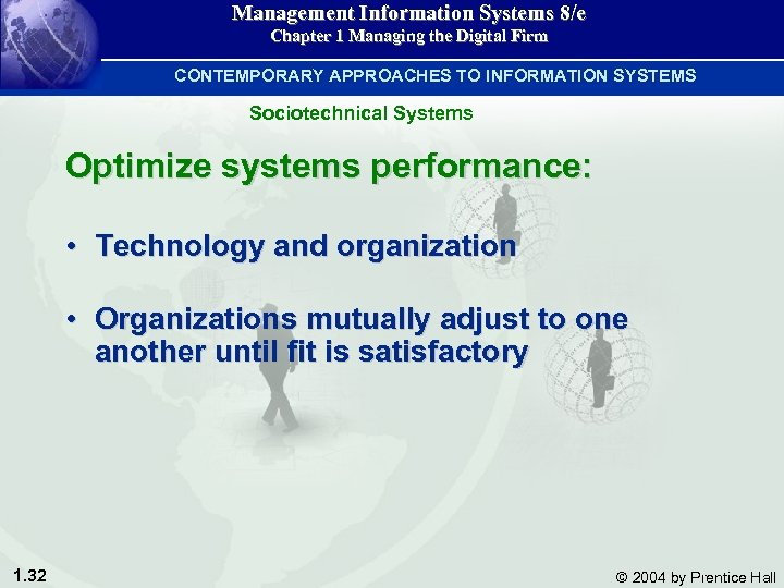 Management Information Systems 8/e Chapter 1 Managing the Digital Firm CONTEMPORARY APPROACHES TO INFORMATION