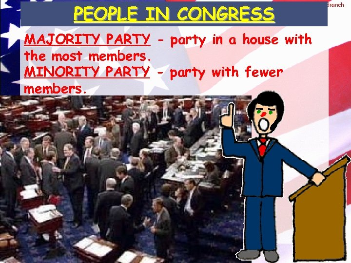 © 2004 By Default! PEOPLE IN CONGRESS The Legislative Branch MAJORITY PARTY - party