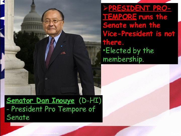 © 2004 By Default! ØPRESIDENT PROTEMPORE runs the Senate when the Vice-President is not