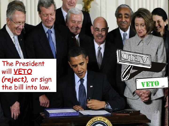 © 2004 By Default! The President will VETO (reject), or sign the bill into