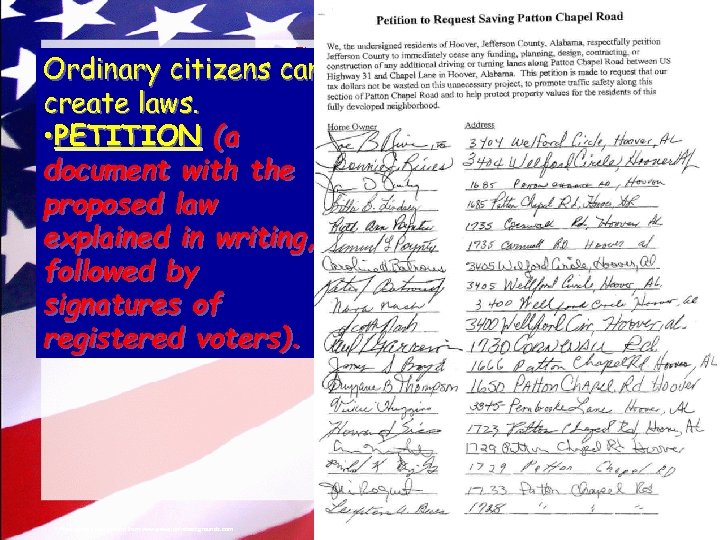 © 2004 By Default! The Legislative Branch Ordinary citizens can create laws. • PETITION
