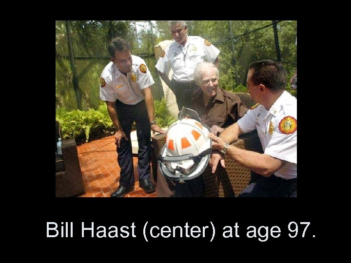 Bill Haast (center) at age 97.