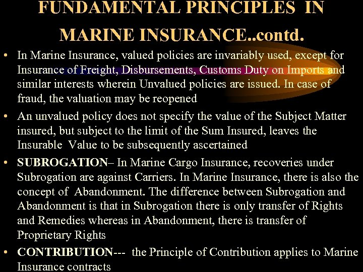 marine insurance case studies Marine insurance- non payment of premiums does not affect the existence of the contract of insurance- court looks at wording of renewal notice and history of dealings between the parties the plaintiffs were the owner of the insured vessel and the bank who held the mortgage on the vessel and was named payee on the policy.