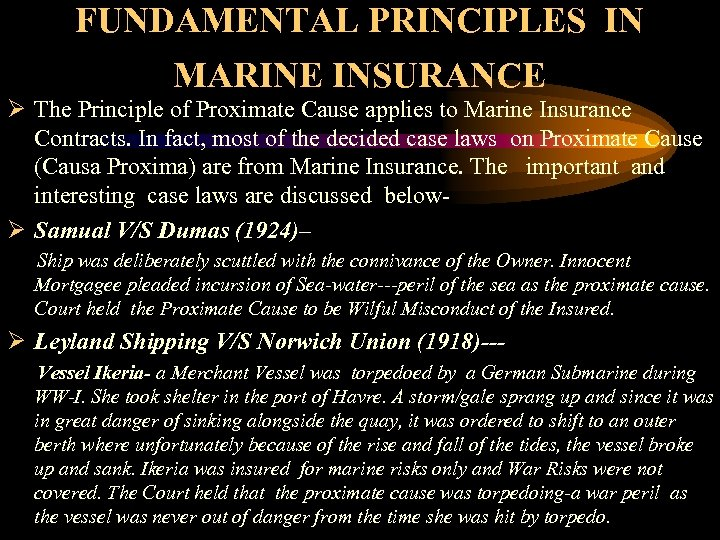 principles of marine insurance