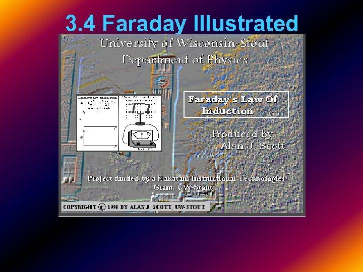 3. 4 Faraday Illustrated