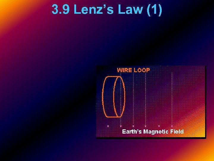 3. 9 Lenz's Law (1)