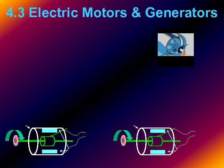 4. 3 Electric Motors & Generators