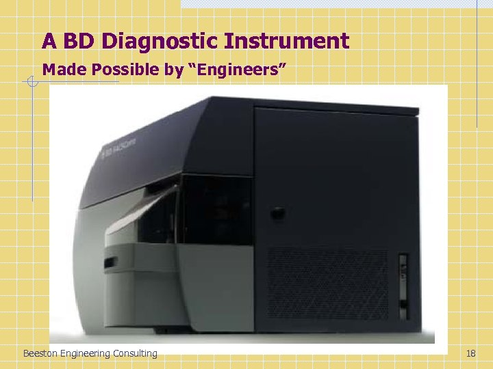 "A BD Diagnostic Instrument Made Possible by ""Engineers"" Beeston Engineering Consulting 18"