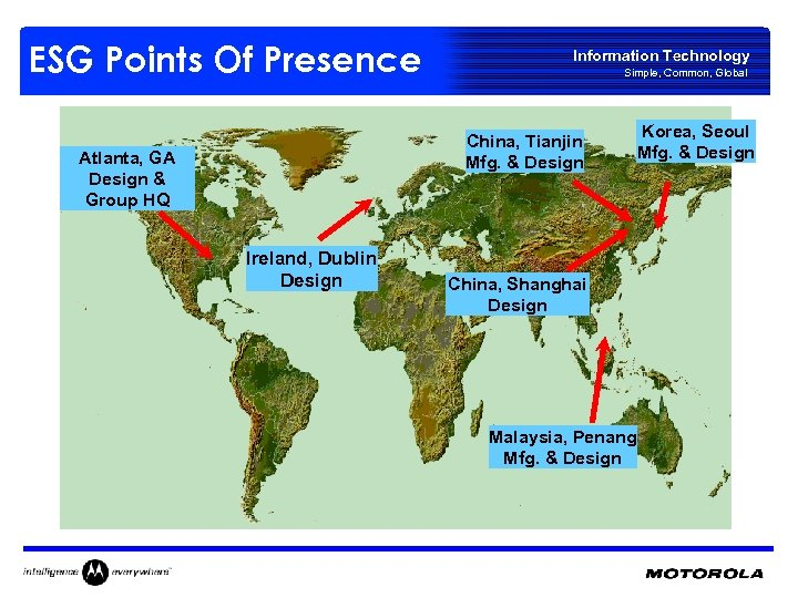 ESG Points Of Presence Information Technology Simple, Common, Global China, Tianjin Mfg. & Design