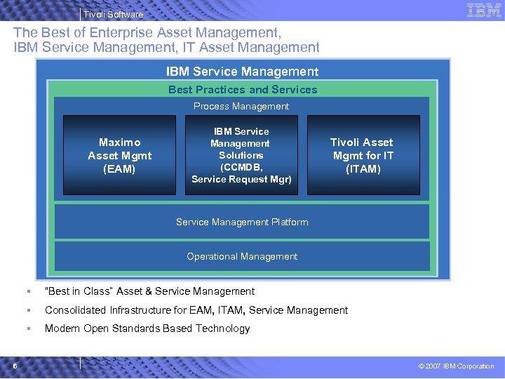 Tivoli Software The Best of Enterprise Asset Management, IBM Service Management, IT Asset Management