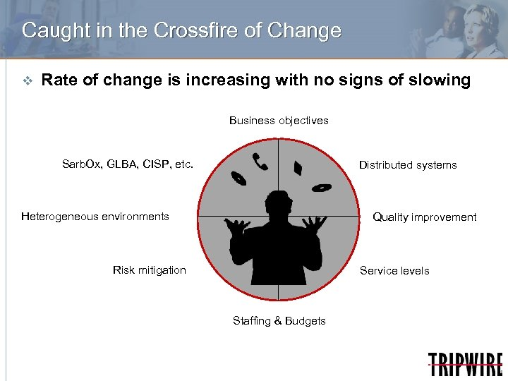 Caught in the Crossfire of Change v Rate of change is increasing with no