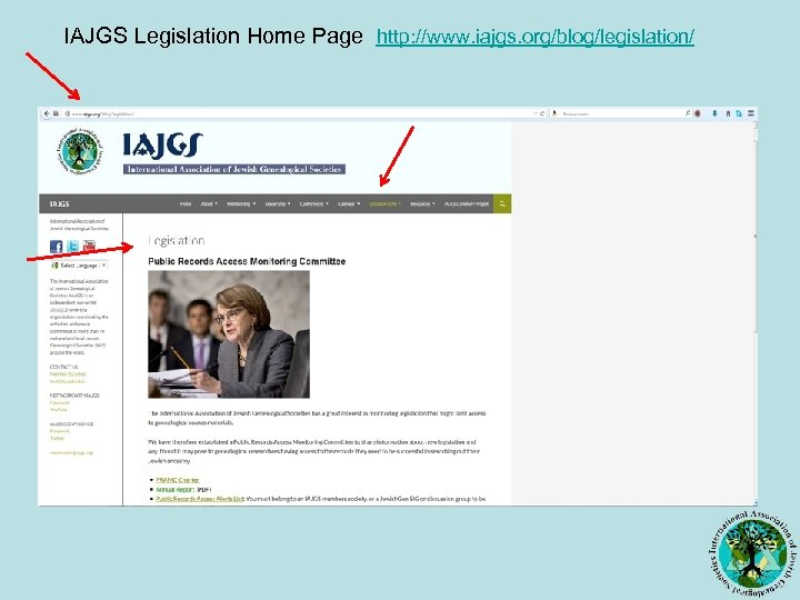 IAJGS Legislation Home Page http: //www. iajgs. org/blog/legislation/