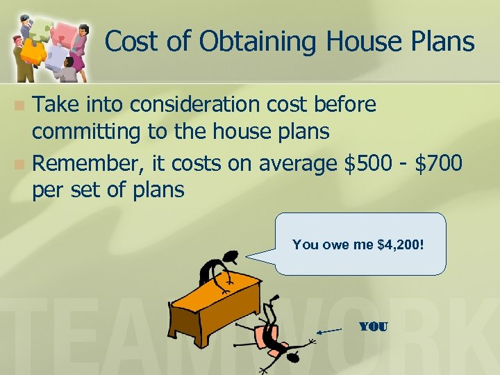 Cost of Obtaining House Plans Take into consideration cost before committing to the house
