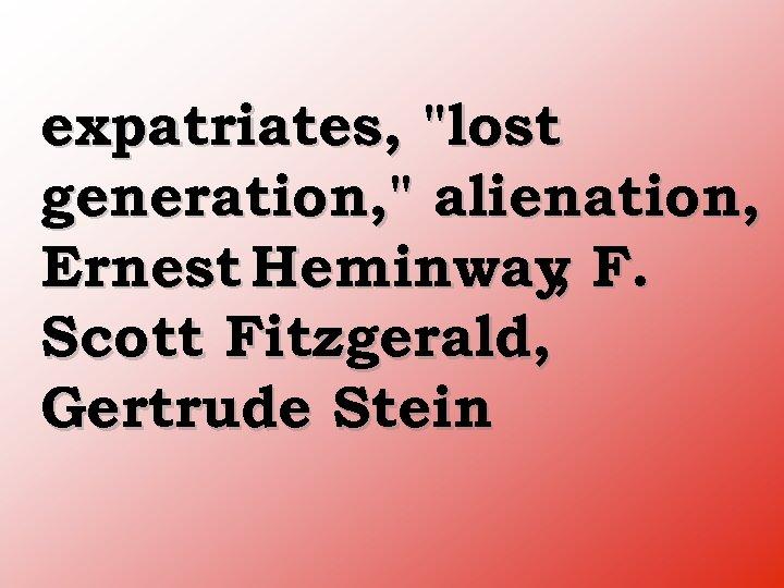 expatriates,