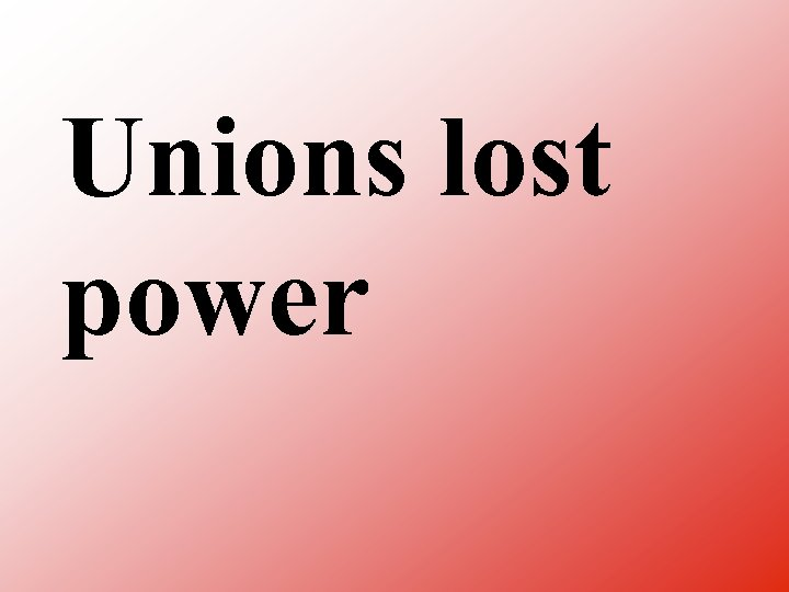 Unions lost power