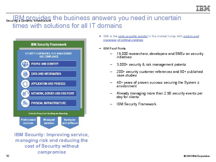 IBM provides the business answers you need in uncertain times with solutions for all