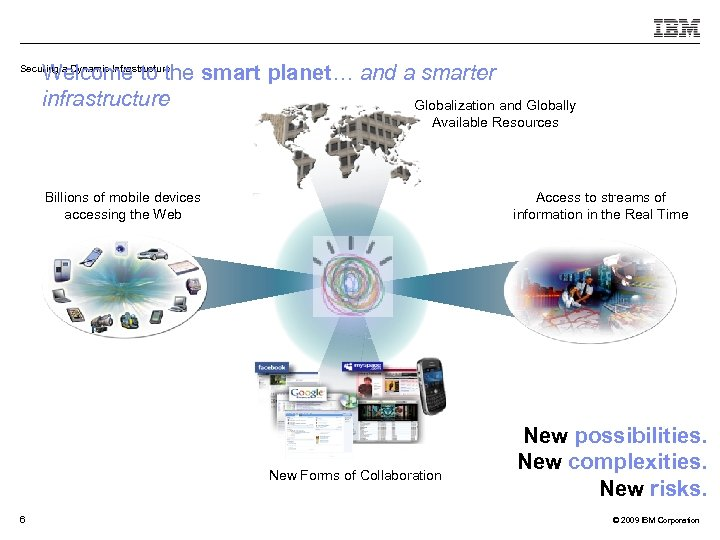 Welcome to the smart planet… and a smarter infrastructure Globalization and Globally Securing a