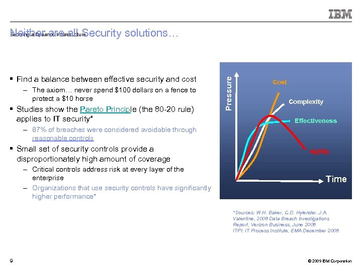 § Find a balance between effective security and cost – The axiom… never spend