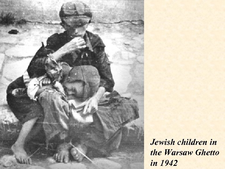 Jewish children in the Warsaw Ghetto in 1942