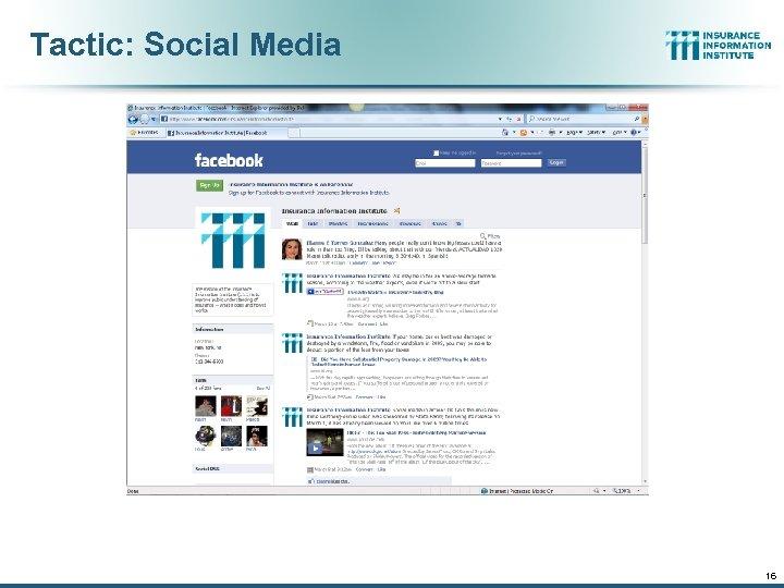 Tactic: Social Media 16