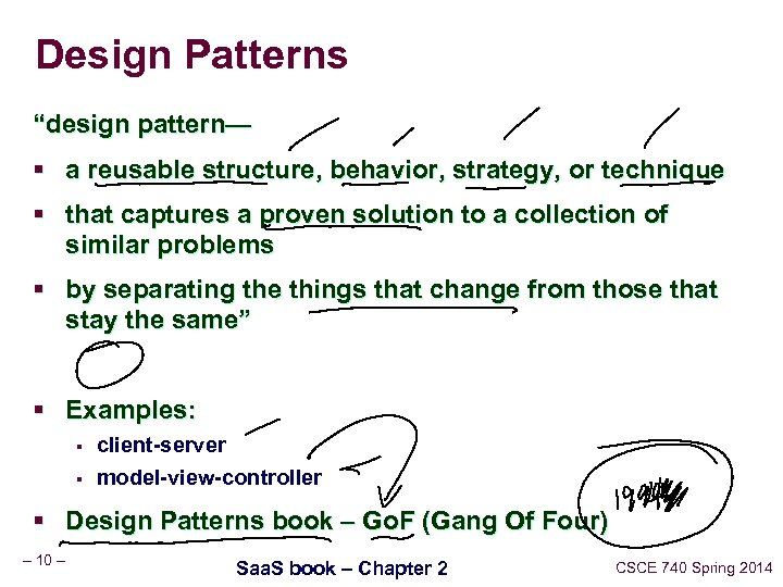 "Design Patterns ""design pattern— § a reusable structure, behavior, strategy, or technique § that"