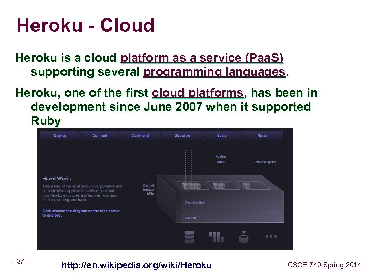 Heroku - Cloud Heroku is a cloud platform as a service (Paa. S) supporting