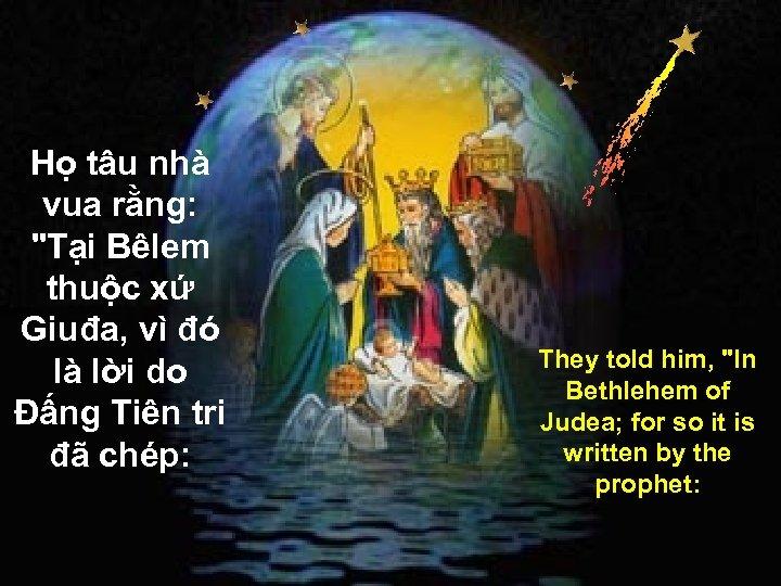 Họ tâu nhà vua rằng: