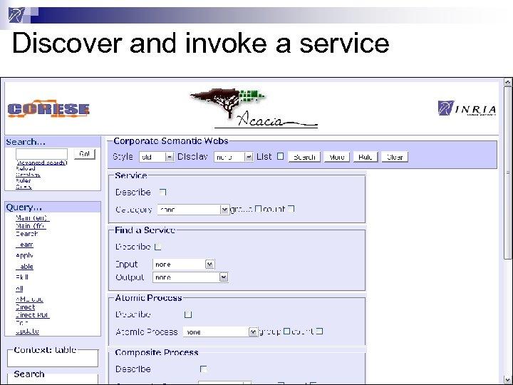 Discover and invoke a service