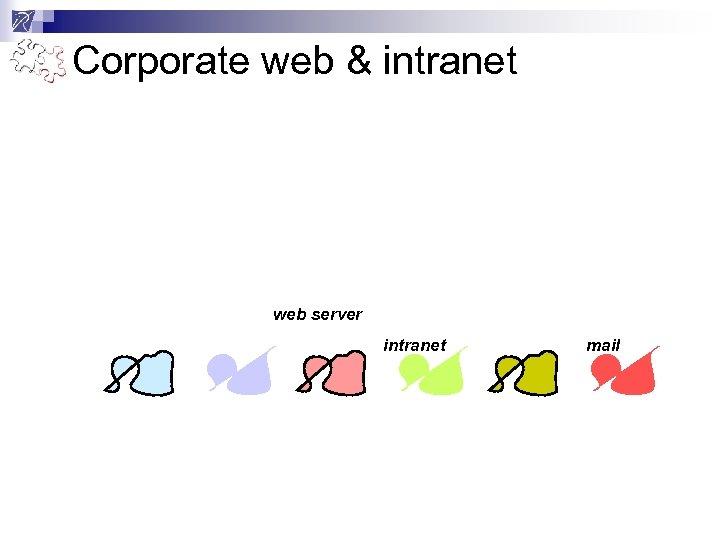 Corporate web & intranet web server intranet mail