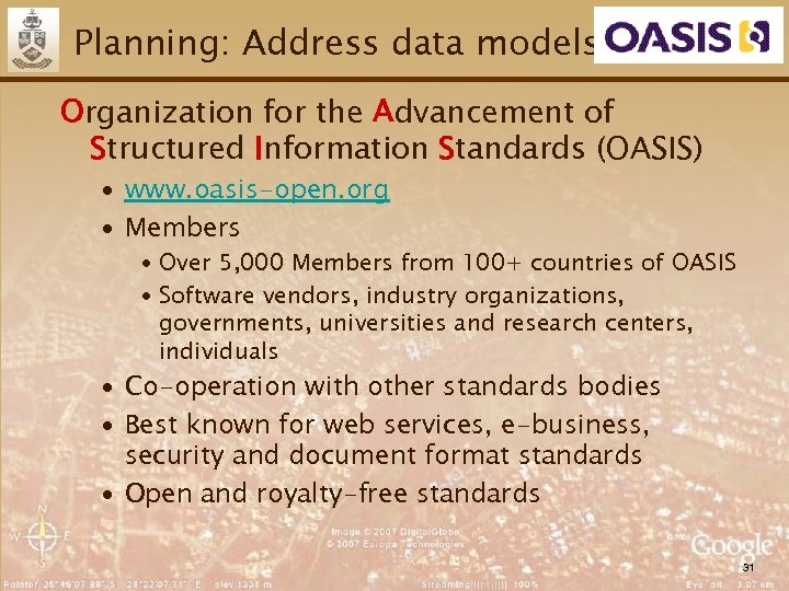 Planning: Address data models Organization for the Advancement of Structured Information Standards (OASIS) ∙