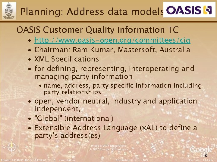 Planning: Address data models OASIS Customer Quality Information TC ∙ ∙ http: //www. oasis-open.