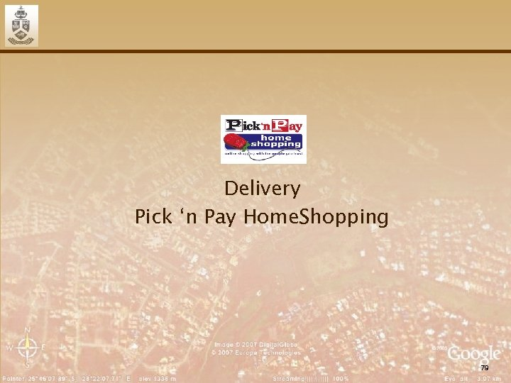 Delivery Pick 'n Pay Home. Shopping 79
