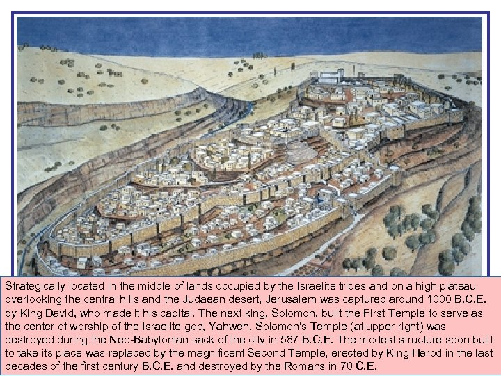 Strategically located in the middle of lands occupied by the Israelite tribes and on