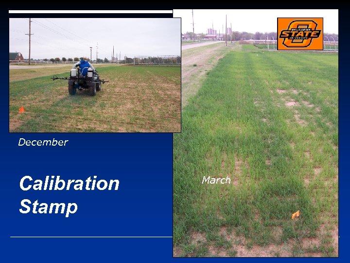 December Calibration Stamp March