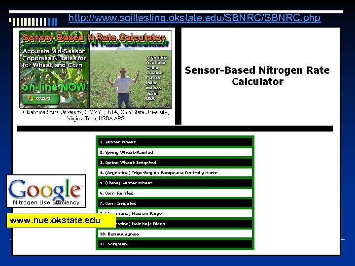 http: //www. soiltesting. okstate. edu/SBNRC. php www. nue. okstate. edu
