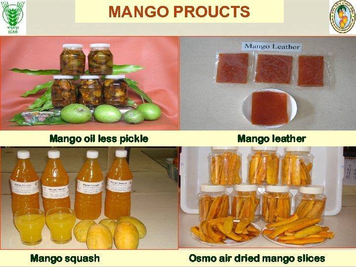 MANGO PROUCTS Mango oil less pickle Mango squash Mango leather Osmo air dried mango