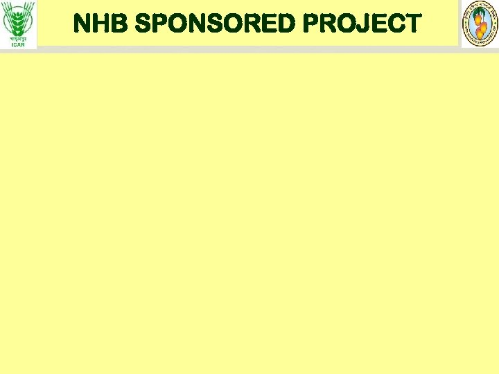 NHB SPONSORED PROJECT
