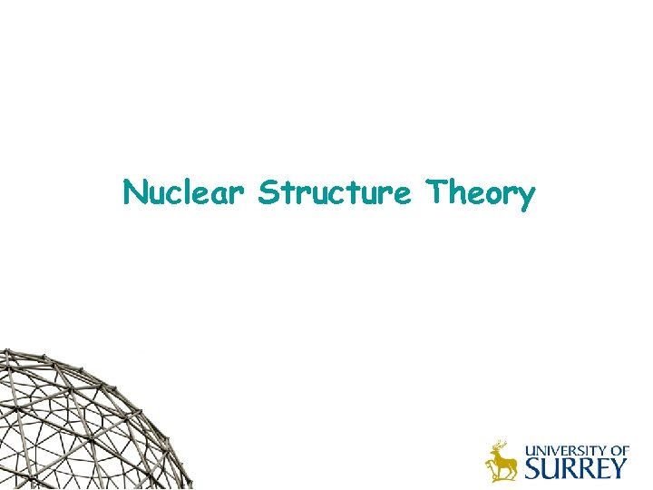 Nuclear Structure Theory