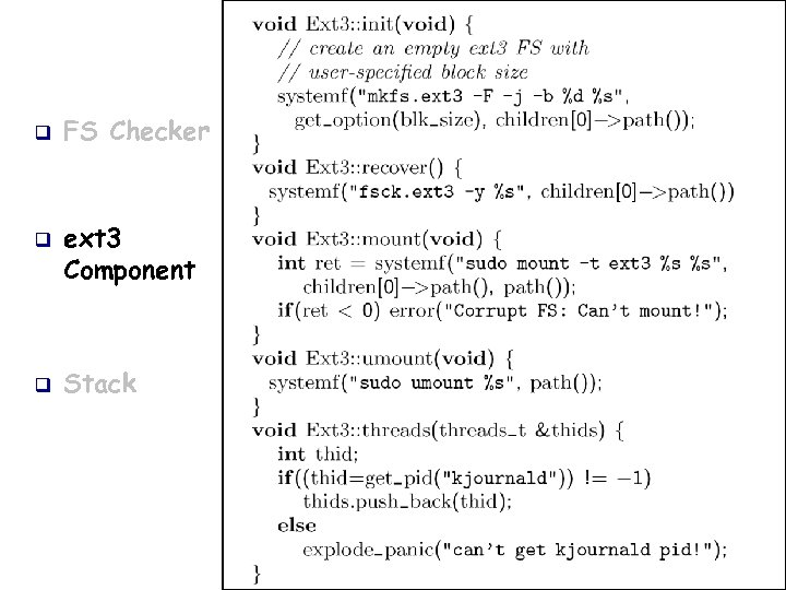 q q q FS Checker ext 3 Component Stack
