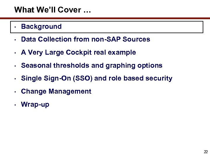 Lessons learned from the implementation of an SAP