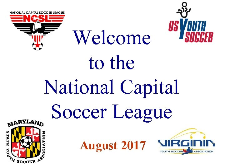 Welcome to the National Capital Soccer League August 2017