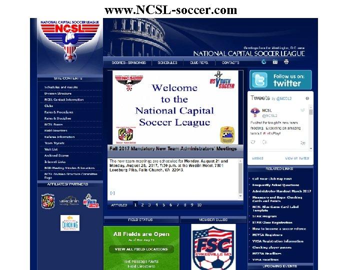 www. NCSL-soccer. com