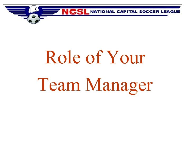 Role of Your Team Manager