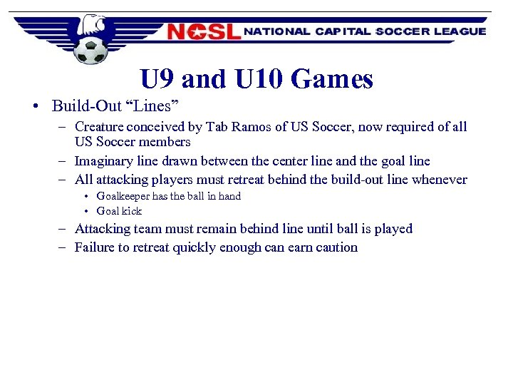 """U 9 and U 10 Games • Build-Out """"Lines"""" – Creature conceived by Tab"""