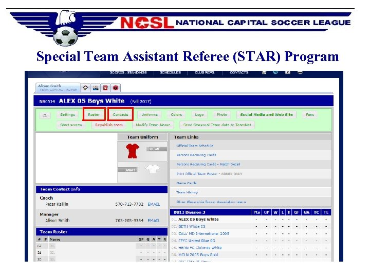 Special Team Assistant Referee (STAR) Program