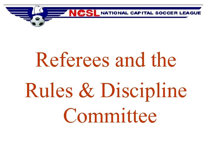 Referees and the Rules & Discipline Committee