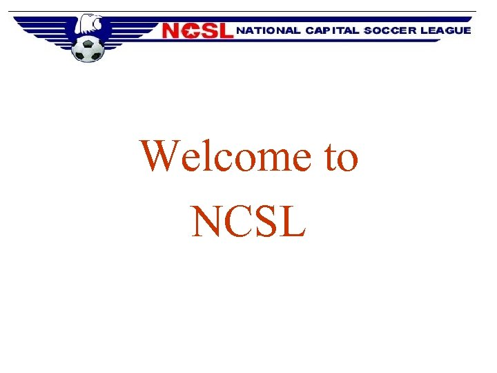 Welcome to NCSL