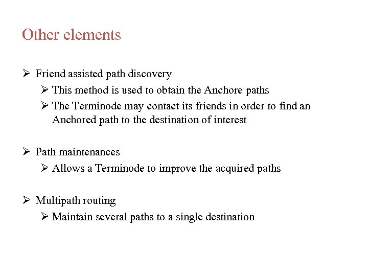 Other elements Friend assisted path discovery This method is used to obtain the Anchore