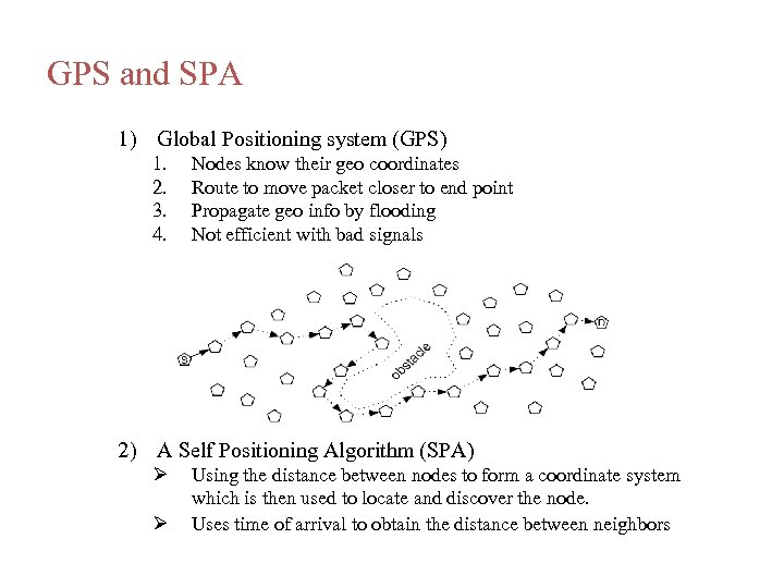 GPS and SPA 1) Global Positioning system (GPS) 1. 2. 3. 4. Nodes know
